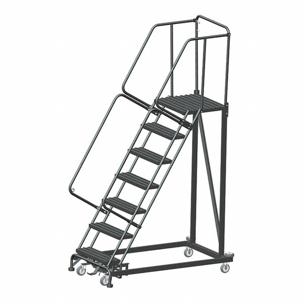 Ballymore 7 Step Safety Rolling Ladder Serrated Step