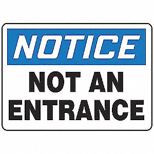 "Notice Sign,10"" x 14"",Plastic"