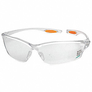 Scratch-Resistant Safety Glasses, Silver Mirror Lens Color