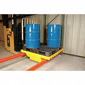 Pallet Rack Containment Sump with Drain