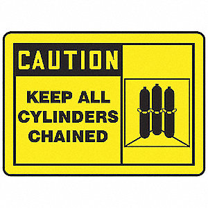 Caution Sign,10 x 14In,BK/YEL,ENG,SCTY