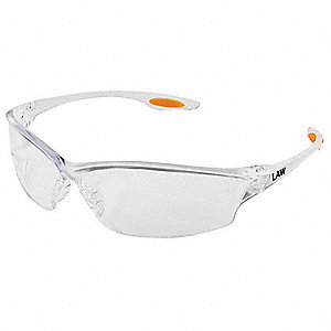 Law® 2 Scratch-Resistant Safety Glasses, Clear Lens Color