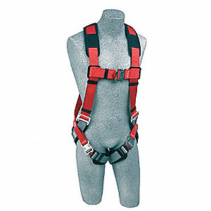 Full Body Harness,S,420 lb.,Red