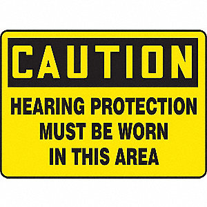"Personal Protection, Caution, Plastic, 10"" x 14"", Not Retroreflective"