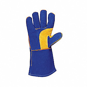 Welding Gloves,L,13 In. L,Reinforced,PR