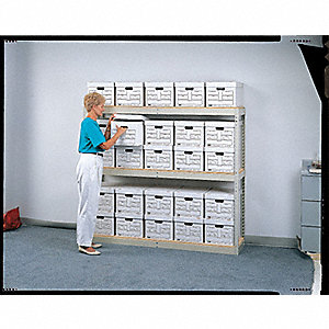 "Starter Boltless Shelving with Particle Board Decking, 3 Shelves, 69""W x 16""D x 60""H"