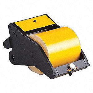 "Indoor/Outdoor Vinyl Film Label Tape Cartridge, Black/Yellow, 4""W x 90 ft."