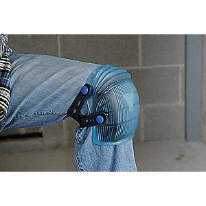 Flexible 2-Strap Knee Pads, Blue