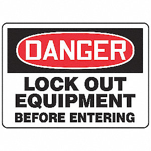 Danger Security Sign,7 x 10In,PLSTC,ENG