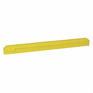 "20""W Straight Double Rubber Replacement Squeegee Blade, Yellow"