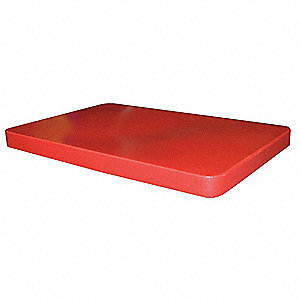 Cube Truck Lid,Red,Fits 10 cu. ft.