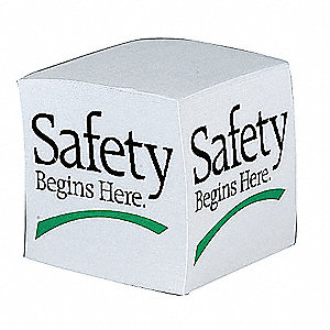 Slogan Memo Cube,Safety Begins Here