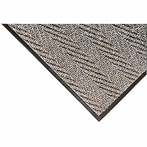 Gray Needle-Punched Yarn, Entrance Mat, 4 ft. Width, 6 ft. Length