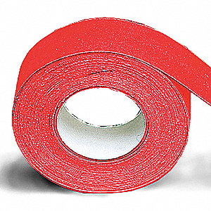 "60 ft. x 2"" Vinyl Antislip Tape, Red"