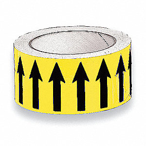 "Banding Tape, Yellow, Vinyl, 2"" x 54 ft."
