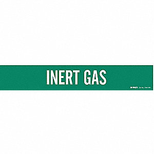Pipe Marker, Inert Gas, Gn, 8 In or Greater