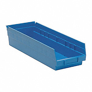 "Shelf Bin, Blue, 4""H x 17-7/8""L x 6-5/8""W, 1EA"