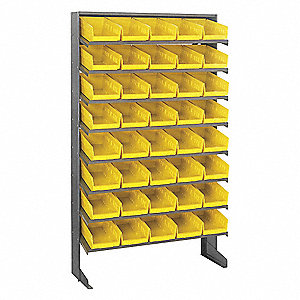"36"" x 12"" x 60"" Sloped Shelving System with 400 lb. Load Capacity, Yellow"