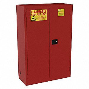 72 gal Paint and Ink Cabinet,  Self-Closing Safety Cabinet Door Type,  65 in Height,  43 in Width