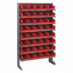 Sloped Shelving System,12 In. D,36 In. W