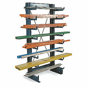 "Cantilever Rack,Freestanding,6 ft. 4"" H"