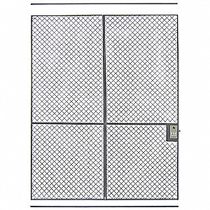 Wire Partition Sliding Door,6 ft x 8 ft