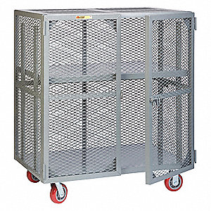 Visible Contents Mobile Storage Locker with Adjustable Center Shelf, 2000 lb. Load Capacity