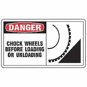 Safety Label, 5 In. W, 3-1/2 In. H, PK5