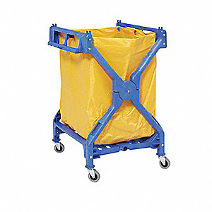 Laundry Cart,Blue,36-1/2 In.H,25 In.D