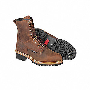 Logger Boots, Size 11, Toe Type: Steel, PR