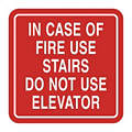 Fire Stairways Sign, 5-1/2 x 5-1/2In, ENG