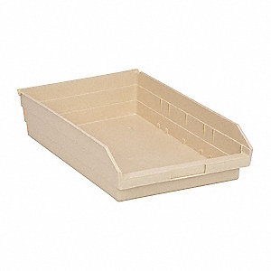 Shelf Bin,17-7/8 In. L,4 In. H,Ivory
