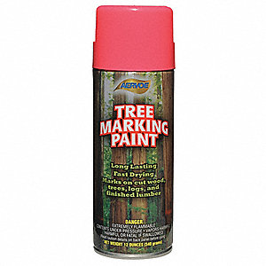 Solvent-Base Tree Marking Paint, Fluorescent Pink, 12 oz.