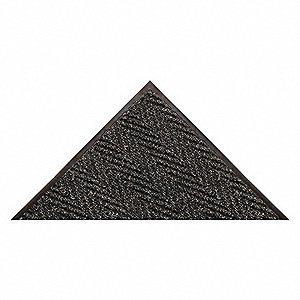 "Indoor Entrance Mat, 20 ft. L, 6 ft. W, 3/8"" Thick, Rectangle, Charcoal"