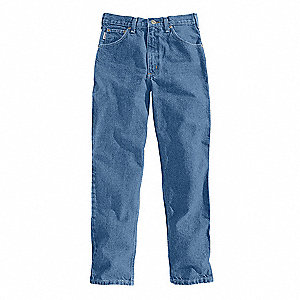 "Men's Relaxed Fit Jeans, 100% Cotton Denim, Color: Stonewash, Fits Waist Size: 48"" x 30"""