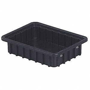 ESD Divider Box,10-7/8 x 2-1/2 In,Black