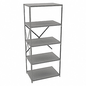 "Metal Shelving,Open,Add-On,87"" H,5 Shelf"