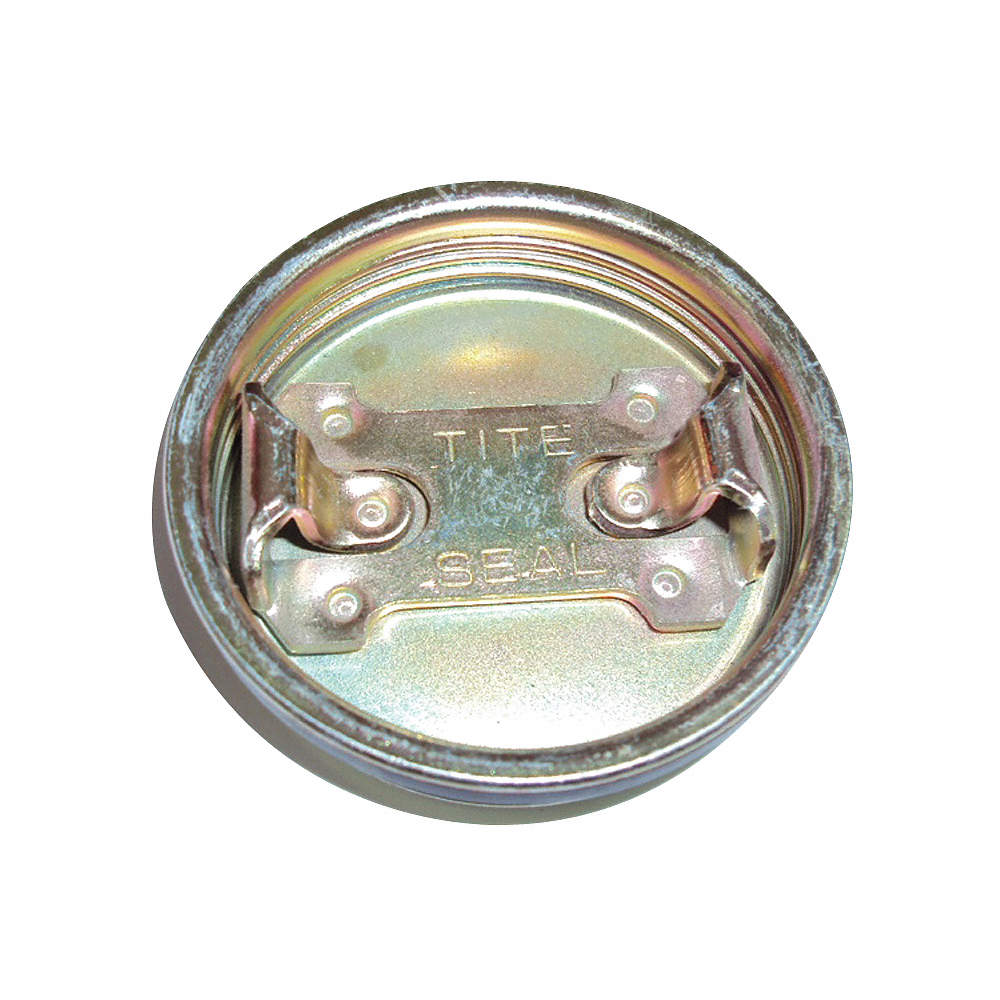 Vent Plug, Steel, Silver, 2-1/2