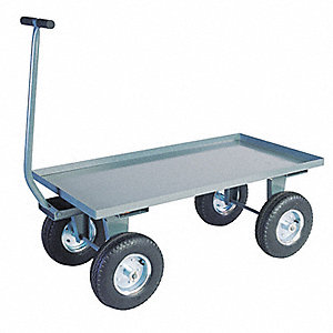 "Wagon Truck With 5th Wheel, 2000 lb. Load Capacity, Pneumatic Wheel Type, 12"" Wheel Diameter"
