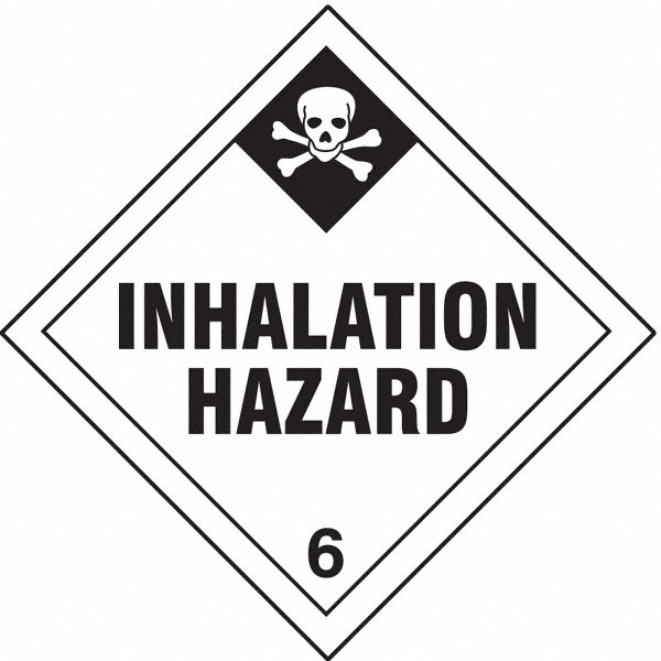 grainger approved inhalation hazard  class 6 vinyl  self