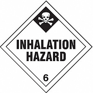 Inhalation Hazard, Class 6 Paper, Self-Sticking DOT Label