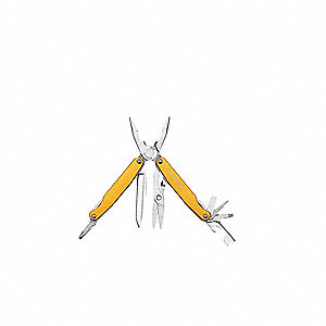 Multi-Tool, Flame Orange Handle Color, Butterfly Opening Opening Action, Number of Tools: 12