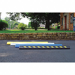 Parking Curb,72 x 4 x 8 In,Black/Yellow