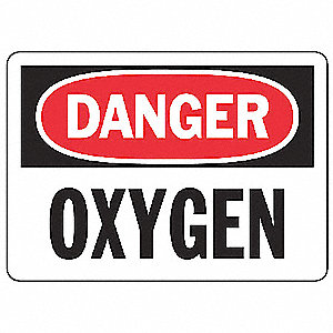 Danger Sign,7 x 10In,R and BK/WHT,AL,OXY