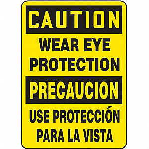 "Spanish-Bilingual Caution Sign,14""x10"""