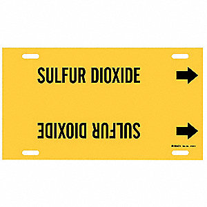 Pipe Marker,Sulfur Dioxide,Y,10 to15 In