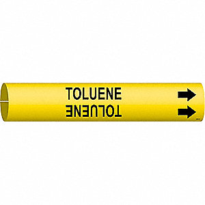 Pipe Marker,Toluene,Yel,3/4 to 1-3/8 In