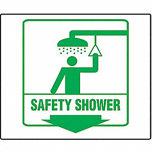 PROJ SIGN 90D 8X8 PNL SAFETY SHOWER