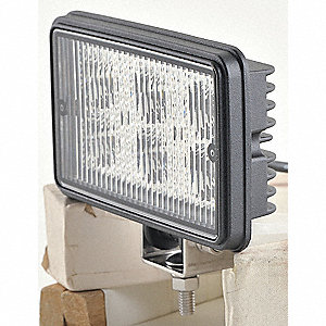 Flood Light,Rect,LED,12 to 24VDC,6 In W