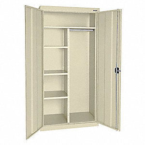 "Storage Cabinet, Putty, 72"" Overall Height, Assembled"